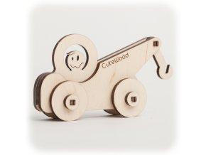 CuteWood Dřevěné 3D puzzle Odtahovka