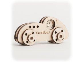 CuteWood Dřevěné 3D puzzle Sportovní auto