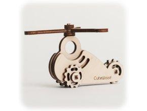 CuteWood Dřevěné 3D puzzle Vrtulník 2