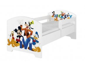 BabyBoo Dětská postel 140 x 70cm Disney - Mickey Friends, bílá