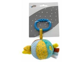 Tulilo Závěsný plyšový míček s balónkem, 8 cm