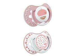 Lovi dudlíky Retro Baby, 0 - 3m, růžové