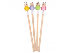 Bigjigs Toys tužka sovička 1ks růžová