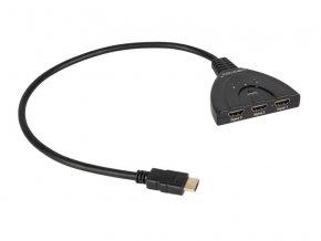 Přepínač 3x HDMI - 1x HDMI CABLETECH ZLA0310