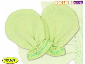 Rukavičky bavlna Terjan - zelené