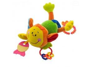 Euro Baby Plyšová hračka s kousátkem a chrastítkem - Opička - zelená