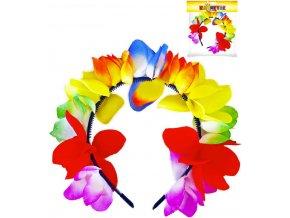 KARNEVAL Čelenka květinová Hawaii dospělá KARNEVALOVÝ DOPLNĚK