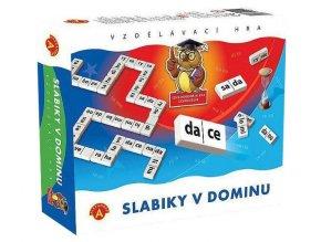 ALEXANDER Hra vzdělávací Slabiky v dominu *SPOLEČENSKÉ HRY*