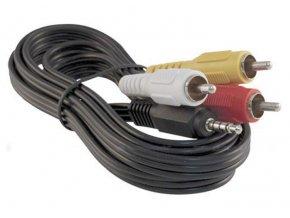 Kabel TIPA JACK 3.5 stereo 4pin/3xCINCH 1,5m