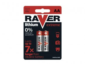 Baterie lithiová AA R6 1,5V RAVER 2ks