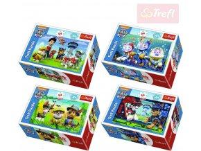 TREFL PUZZLE Mini skládačka Tlapková patrola set 54 dílků v krabici 4 druhy
