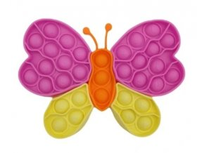 Pop It - Praskající bubliny, silikonová, antistresová spol. hra, Puzzle motýl