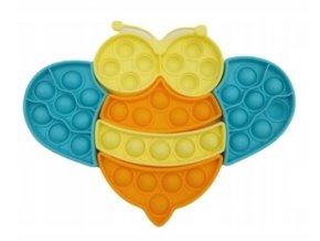 Pop It - Praskající bubliny, silikonová, antistresová spol. hra, Puzzle včelka