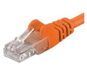 Patch kabel UTP Cat 6, 0,5m - oranžový