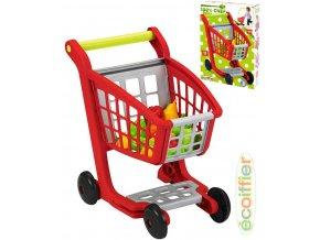 ECOIFFIER Set vozík nákupní + ovoce a zelenina makety potravin plast
