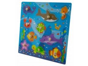 Tulimi Dřevěné zábavné puzzle vkládací - Oceán I.