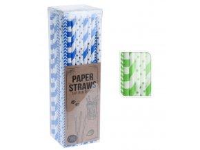 Brčko papírové 20cm sada 100 ks zelená
