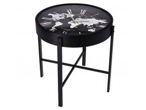 Konferenční stolek s hodinami HOMESTYLING 40 x 40 cm
