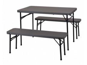 Campingový set stůl + lavice PROGARDEN skládací