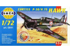 SMĚR Model letadlo Curtiss P-36 1:72 (stavebnice letadla)