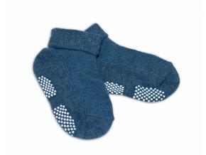 Kojenecké ponožky, 0-12 m, Risocks protiskluzové - grafitové