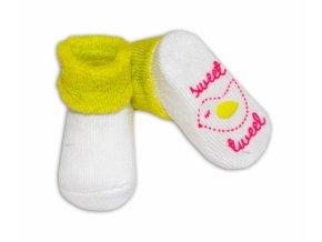 Kojenecké ponožky 0-6m, Risocks různé motivy - sv. zelená