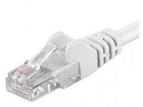 Patch kabel UTP Cat 6, 0,5m - bílý
