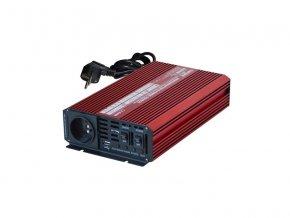 Měnič napětí CARSPA UPS600 12V/230V 600W + UPS + nabíječka