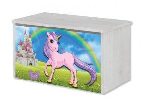 BabyBoo Box na hračky s motivem Unicorn