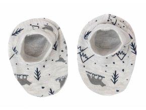 Mamatti Kojenecké botičky, ponožtičky Hory - šedé s potiskem
