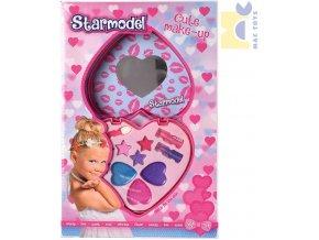 MAC TOYS Dětský Make Up dvojité srdíčko set dětské šminky v krabičce