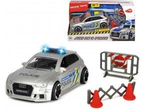 DICKIE Auto Audi RS3 policie ČR na setrvačník s doplňky na baterie Světlo Zvuk