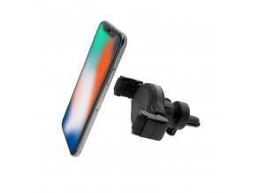 Držák FIXED Roll Vent univerzální s uchycením do mřížky ventilace, černý