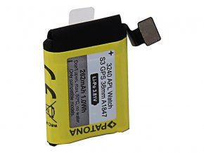 Baterie Apple Watch 3 GPS 262mAh A1847 38mm PATONA PT3240