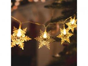 Řetěz vánoční 58217 vločky