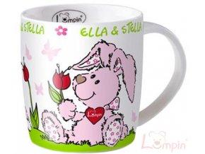 LUMPIN Hrníček dětský Ella a Stella 9cm s obrázkem keramický