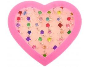 Prstýnek s kamínkem a perlou dětská bižuterie různé druhy