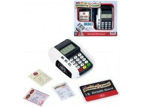KLEIN Dětský platební terminál set s kreditní kartou na baterie Světlo Zvuk
