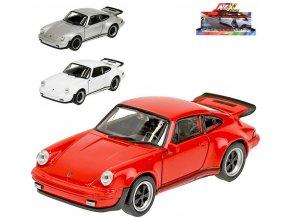 WELLY Auto model Porsche 911 Turbo 11cm kov PB 3 barvy