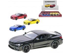 KINSMART Auto model BMW M8 1:38 13cm kov PB 4 barvy