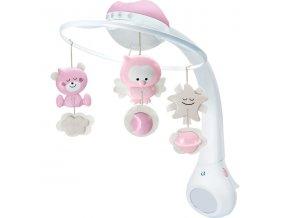 Infantino Hudební kolotoč s projekcí 3v1 - růžový