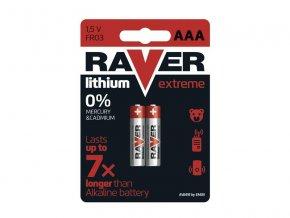 Baterie lithiová AAA R03 1,5V RAVER 2ks