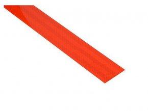 Reflexní páska samolepící 1m x 5cm červená COMPASS 01540