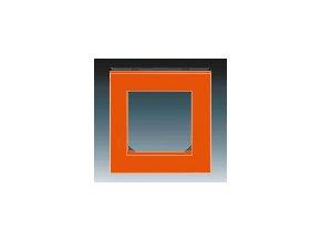 5256 ramecek jednonasobny oranzova kourova cerna 3901h a05010 66