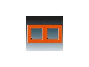 5267 ramecek dvojnasobny oranzova kourova cerna 3901h a05020 66