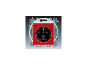 5417 zasuvka jednonasobna s clonkami cervena kourova cerna 5519h a02357 65