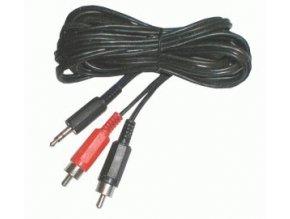 Kabel TIPA JACK 3.5 stereo/2xCINCH 5m