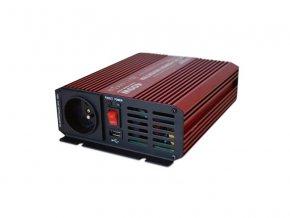 Měnič napětí CARSPA P400 12V/230V 400W čistá sinusovka USB