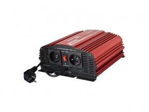 Měnič napětí CARSPA CPS 600 12V/230V 600W čistá sinusovka+ UPS+ nabíječka