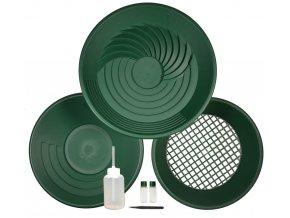 7083 1 sada zelenych plastovych ryzovacich panvi karma
